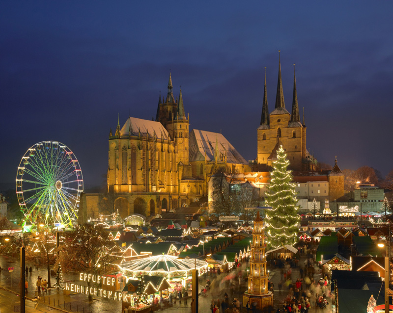 Weihnachtsmarkt Erfurt.Erfurter Weihnachtsmarkt